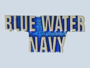 Blue Water Navy Script Pin
