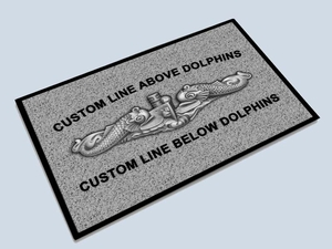 Personalized Dolphin Floor Mat