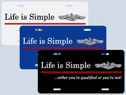 Life is Simple Plates