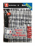 Boys Boxer shorts assorted stripes
