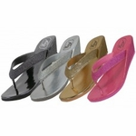 S7120-L - Wholesale Women's Metallic Glitter Flip Flop $ 3.25