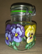 Pansy Mini Bail-Top Jar