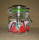 Strawberry Mini Bail-Top Jar
