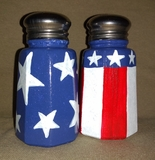 Stars & Stripes Medium Salt & Pepper Shakers