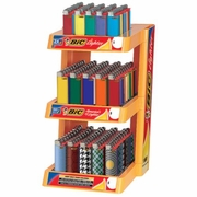 Bic 3 Tier Lighters with Rack