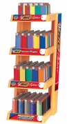 Bic 4 Tier Lighters with Rack