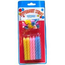 Birthday Candles, Assorted Color 24/bx