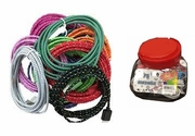 Iphone5 / 10ft USB Fabric Cable 24/jar