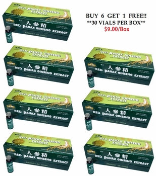 Ginseng Extract Green 30 vials Buy 6 + 1 free Deal