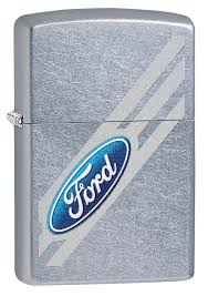 Zippo Ford Lighter - Chrome Finish