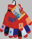 Kid ABC/123 Gloves (1dz)