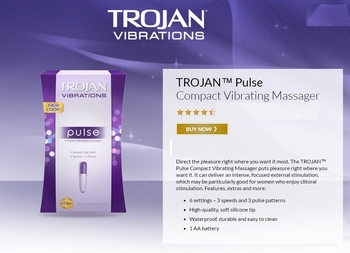 Trojan PulseVibrating Massager 4 box