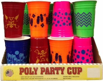 Poly Party Cup Designs24/bx