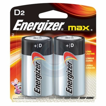 2-Pack D Energizer Batteries