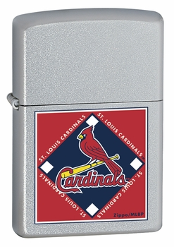 MLB, Cardinals, Satin Chrome Lighter