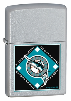 MLB, Marlins, Satin Chrome Lighter