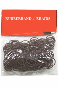 Black Hair Braid Rubberband 12/crd