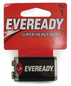 9v 1-Pack Eveready Batteries