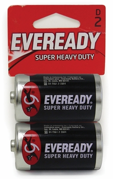 D 2-Pack Eveready Batteries
