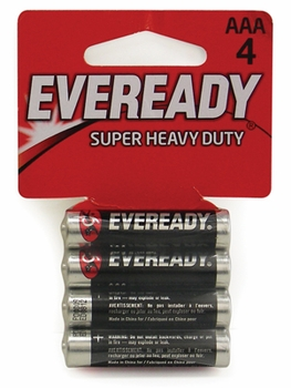 Eveready AAA/4 pack Batteries