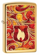 Zippo Engraved Flames