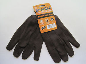 Brown Jersey Work Men Gloves (brahma)