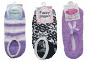 Fuzzy Slipper Socks (1dz)
