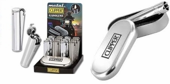 Clipper Chrome Lighter12/tray w/box