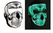 Neoprene Mask Glow Dark Skull