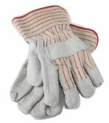 Leather Palm w/Safety Cuff6 Pairs Gloves