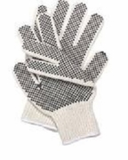 White Black Dots GlovesEconomy 12pk