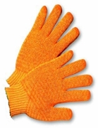 Orange Honey Comb GripperEconomy Gloves 12pk