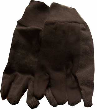 Loose Jersey Brown Dots Gloves12 Pairs