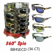Camouflage Sunglasses 36ct display