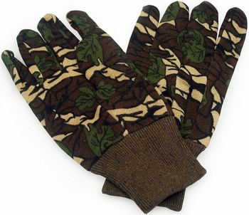 Green Camouflage Gloves 9oz 12 Pairs