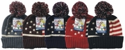 Winter USA Pom Pom hat 12bx