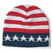USA Flag Beanie Hat12/pk