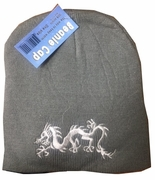 Gray Dragon Knit Hat12/pk