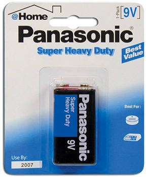 9v 1-Pk Panasonic Batteries