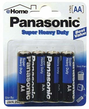 AA 4-Pk Panasonic Batteries