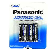 AAA 4-Pk Panasonic Batteries