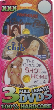 3 Pack DVD blister card