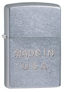 Zippo Made In USA Lighter - rough chrome