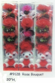"20"" Gift BoxWith Bear & Roses"