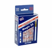 Magic 25 cigarette filters6bx of 100pc