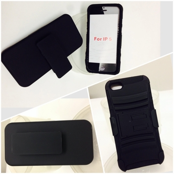 Iphone 5 Case w/stand & ScreensBlack 5/box