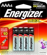 AAA-4 Pack Energizer Batteries