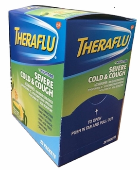 Thera Flu Severe Cold & Cough20ct Single Dose Night Time