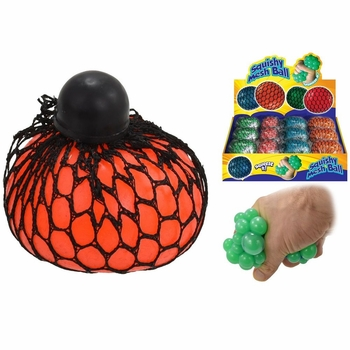 Squeeze Stress Balls w/net 12/Display
