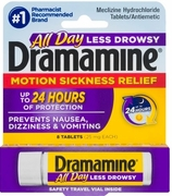 Dramamine 8ct Less Drowsy6 box